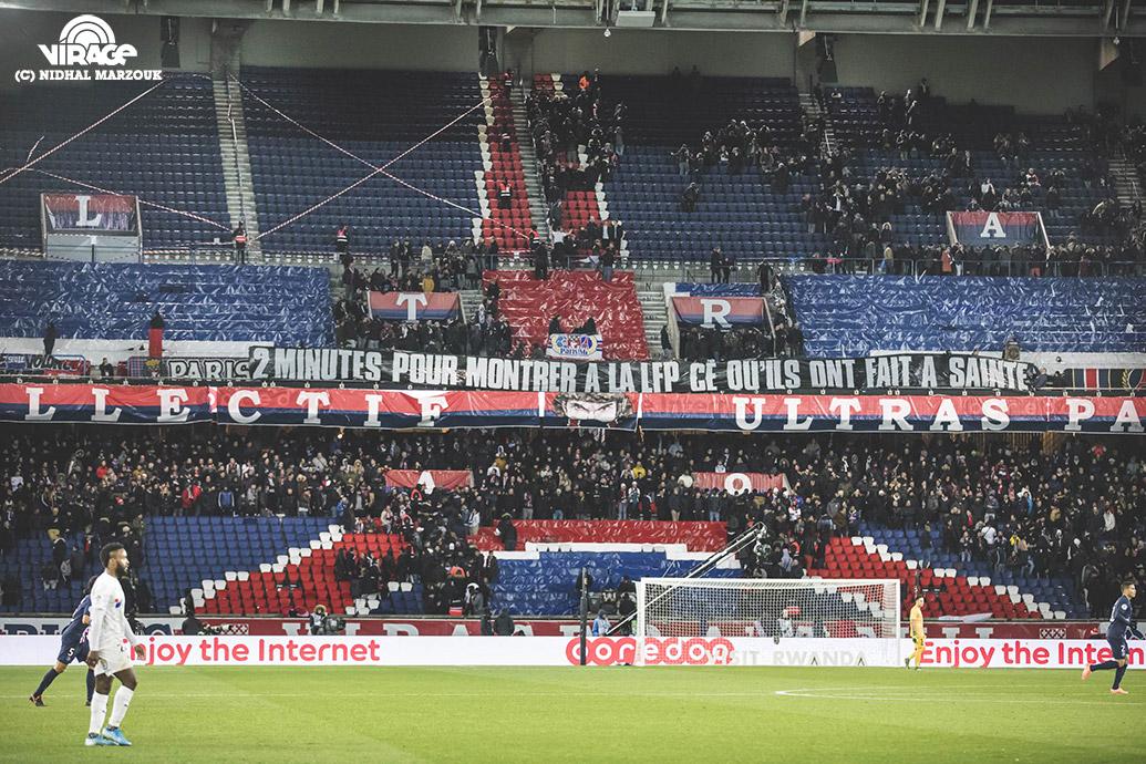 Virage Auteuil CUP Ultras Parc des Princes Virage PSG De l'intérieur